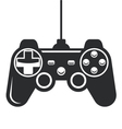 Gamepad icon - joystick for game console vector image