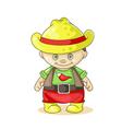 cartoon boy cowboy vector image