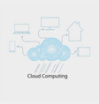 computer cloud with rain of numbers vector image