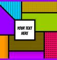 geometric pop art advertise background vector image