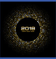gold happy new year 2018 card frame background vector image