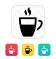 Half coffee cup icon vector image