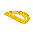 Isometric protractor on white background vector image