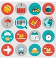 Logistic flat icons set vector image