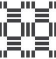 seamless pattern black vertical and horizontal vector image