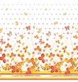 Seamless spring white floral pattern with orange vector image