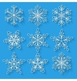 Snowflakes setBackground for winter and christmas vector image