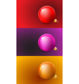 Christmas Cards Set with Balls vector image vector image