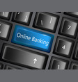 keyboard key with enter button banking vector image