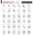 graphic design program tools icon palettes thin vector image