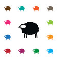 isolated livestock icon lamb element can vector image
