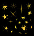 star in the dark icon collection vector image