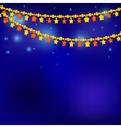Golden Christmas stars on blue background vector image vector image