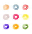 watercolor abstract donuts shaped dots of vector image vector image