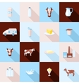 Milk icons set vector image vector image
