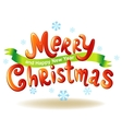 Merry Christmas glossy inscriptions vector image vector image