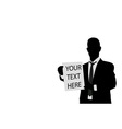businessman holding blank paper vector image
