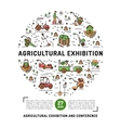 Agricultural Exhibition design template flyer vector image