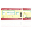 airline ticket 02 vector image