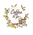 coffee to go icon paper cup icon for web and vector image