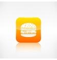 Hamburger web icon Application button vector image