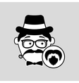 hipster style bearded retro design vector image