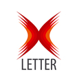 red logo Abstract letter X vector image