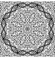 Seamless black outlined mandala vector image