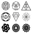 Set of the abstract signs and fractals vector image
