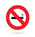 sign for no smoking vector image