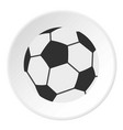 soccer ball icon circle vector image