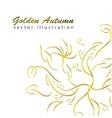 Golden autumn branches vector image