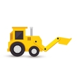 excavator toy isolated icon vector image