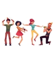 Set of friends having fun at a birthday party vector image