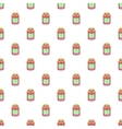 Jam in a glass jar pattern cartoon style vector image