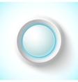 Blue plastic navigation button vector image