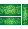 green number background vector image