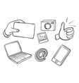 Different kinds of gadgets vector image vector image