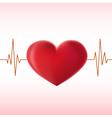 pulse heart vector image vector image