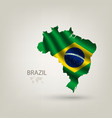 Flag of Brazil as a country vector image vector image