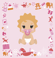 Baby shower design Its a girl vector image