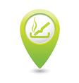 smoking GREEN map pointer vector image vector image