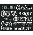 Collection of Merry Christmas hand lettering vector image vector image