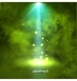Premiere Green Show background sparkles Smoky vector image