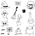 stock halloween doodle vector image