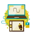 Digital tablet and computer vector image