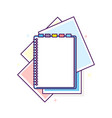 flat design notepad vector image