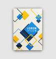futuristic cover pattern on vector image