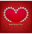 Heart label from paper Valentines day card vector image