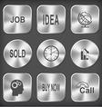 job idea globe and arrow sold clock graph degress vector image